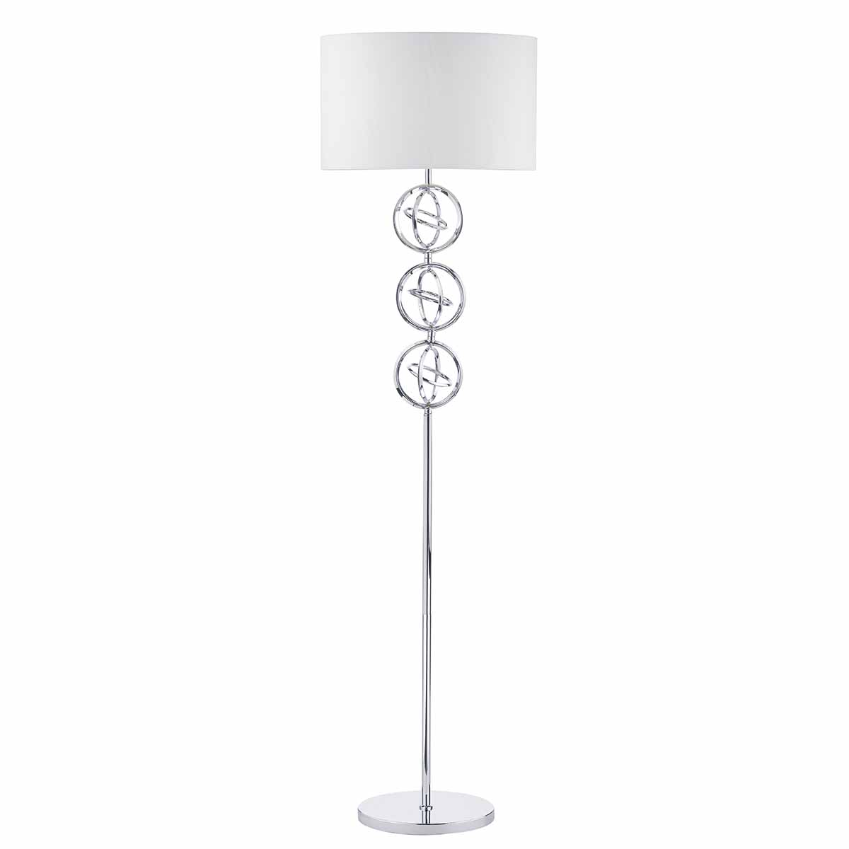 Chrome Donovan floor lamp, with shade