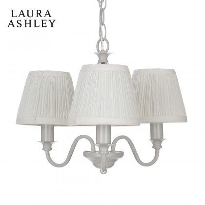 Laura Ashley Ellis Off White 3 Light Chandelier