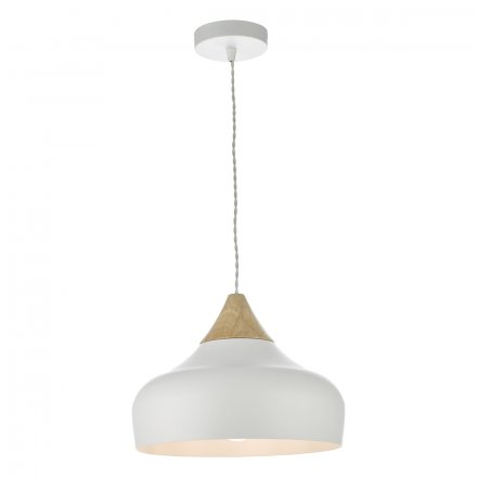64be6b5951c0 Gaucho 1 Light Pendant White