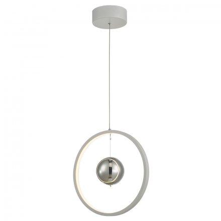 Mercury 1lt Pendant Vertical White LED
