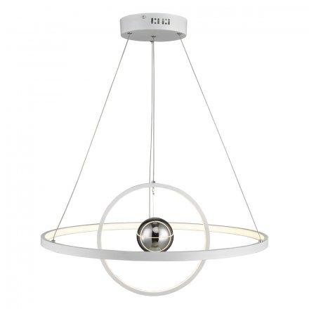 Mercury 1lt Pendant Horizontal 2 Sphere White LED