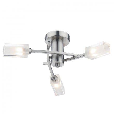 Morgan 3 Light Semi Flush Satin Chrome