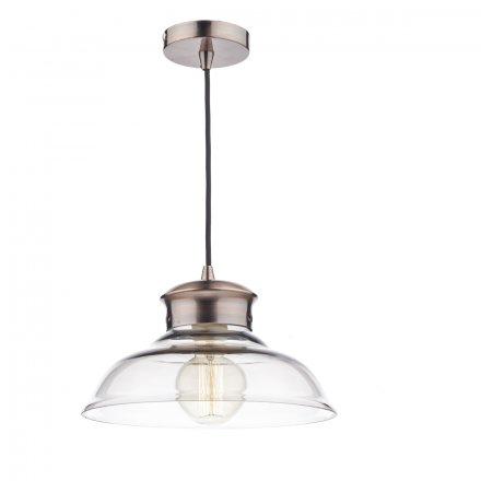 Siren 1 Light Pendant Glass/Copper