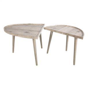 Baeza Two Part Coffee Table Light Oak Wood Effect