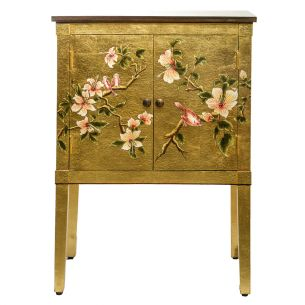 Isra Cabinet Gold Leaf and Bird Detail
