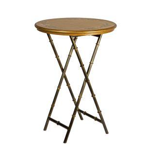 Isra Round Side Table Gold Leaf