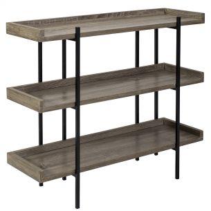Lundberg Three Shelf Unit Oak Style Veneer