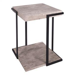 Royan Square Table Concrete Effect