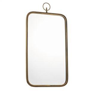 Hopwood Curved Rectangular Mirror Antique Gold 1020 X 550MM