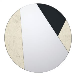 Jonna Round Gold Leaf And Black Mirror 50CM