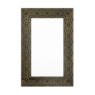 Jugend Rectangle Black Gold Art Deco Mirror 120 X 80CM
