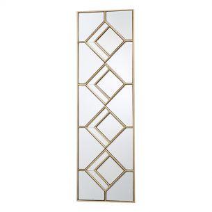 Kipton Rectangle Decorative Mirror With Gold Foil Detail