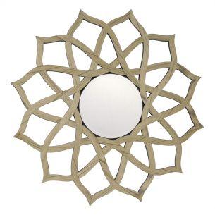 Legno Round Wood Veneer Frame Mirror 80CM