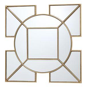 Lyshia Square Mirror With Gold Foil Detail 60CM
