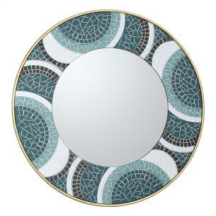 Orta Round Mosaic Detail Mirror 76CM
