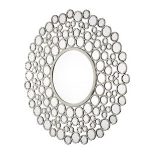Wagon Round Circles Mirror Satin Silver 1060MM