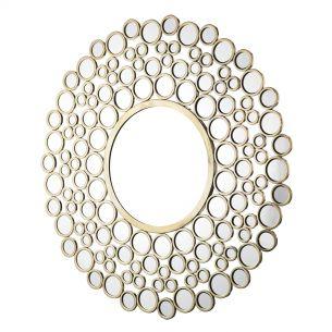 Wagon Round Circles Mirror Gold 1060MM