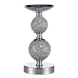 Double Ball Candlestick Blue Mosaic