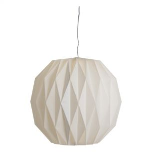 Dermot Easy Fit Pendant White & Paper