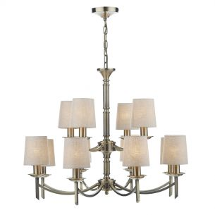 Ambassador 12 Light Dual Mount Pendant Antique Brass