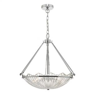 Avril 3lt Pendant Polished Nickel & Glass