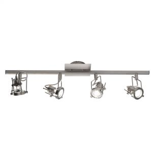 Bauhaus 4 Light Bar Satin Chrome GU10