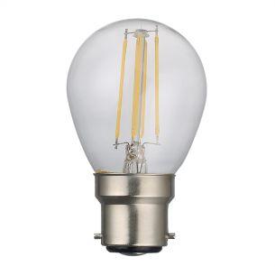 (SOLD AS 5PK) B22 LED DIM GB LAMP 4W 400LM CLEAR