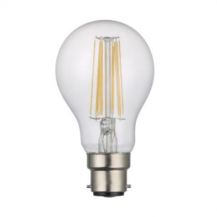 (SOLD AS 5PK) B22 LED DIM GLS LAMP 8W 1000LM CLEAR