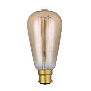 (SOLD AS 5PK) B22 LED DIM VINT RUSTIKA LAMP 4W 300LM 1800K