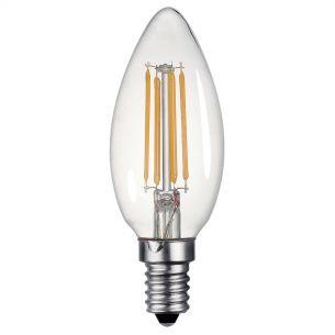 (SOLD AS 5PK) E14 LED DIM LAMP 4W 400LM C35 CNDL CLEAR