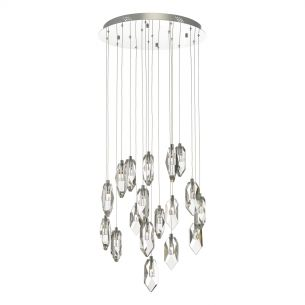 Crystal 18lt Cluster Pendant Polished Chrome & Crystal