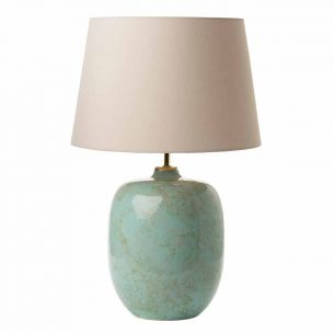 Elgar Table Lamp Ceramic & Green Base Only