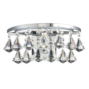 Fringe 1 Light Wall Bracket Polished Chrome IP44