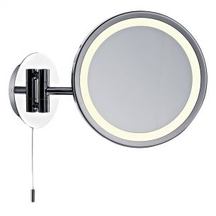 Gibson Magnifying Round Wall Mirror Excl Lamp IP44