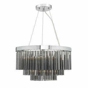 Giovana 5lt Pendant Polished Chrome & Smoked Glass