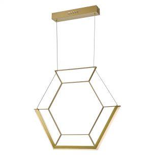 Hexagon 1lt Pendant Gold LED