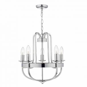 Heythrope 5 Light Pendant Polished Nickel