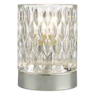 Jill Touch Table Lamp Pol Chr Glass