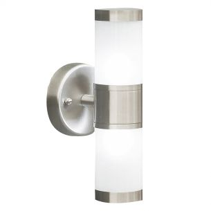 Kamus Double Wall Bracket Frosted Glass Stainless Steel IP44