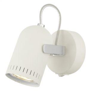 Kort Wall Light Cream and Polished Chrome GU10 LED Inc