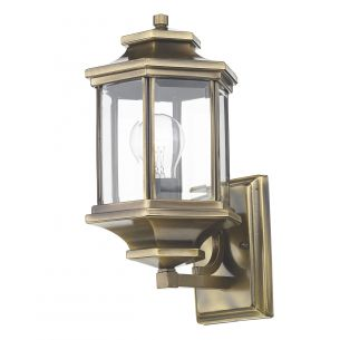 Ladbroke Lantern Antique Brass complete with Bevelled Glass IP44