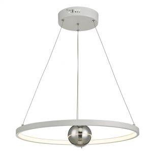 Mercury 1lt Pendant Horizontal White LED