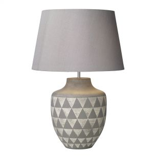 Mulan Table Lamp Ceramic & Grey Base Only