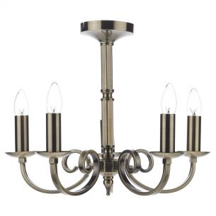 Murray 5 Light Dual Mount Pendant Antique Brass