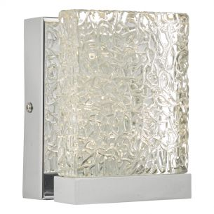 Nihan Wall Light Polished Chrome & Glass LED