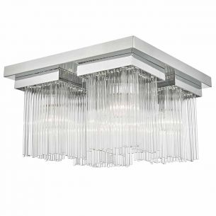 Odette 4lt Flush Polished Chrome & Glass Rods