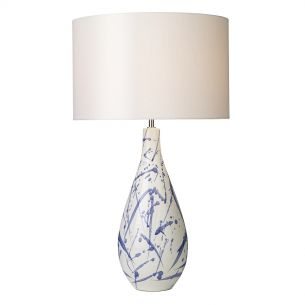 Olka Table Lamp Ceramic & Blue Base Only