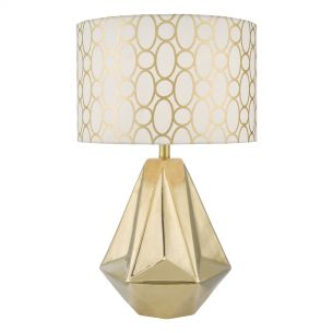 Pasadena Table Lamp Gold Cw Shd