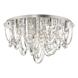Roxanne 11lt Flush Polished Chrome & Crystal