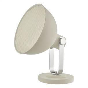 Rutger Floor Lamp White & Polished Chrome